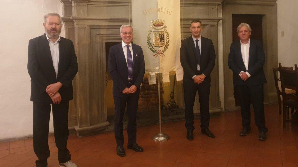 Il prefetto Giuseppe Forlenza in visita a San Leo