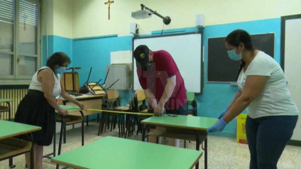 Preparazioni in una scuola