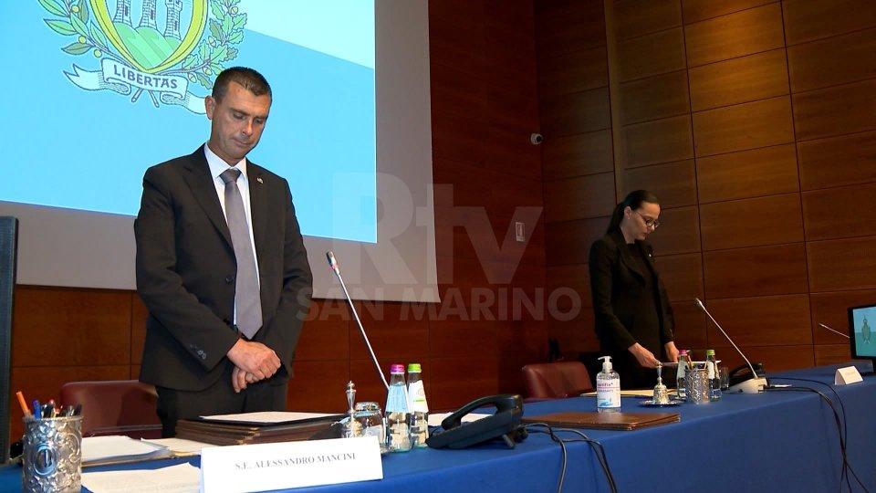I Capitani Reggenti Alessandro Mancini e Grazia Zafferani