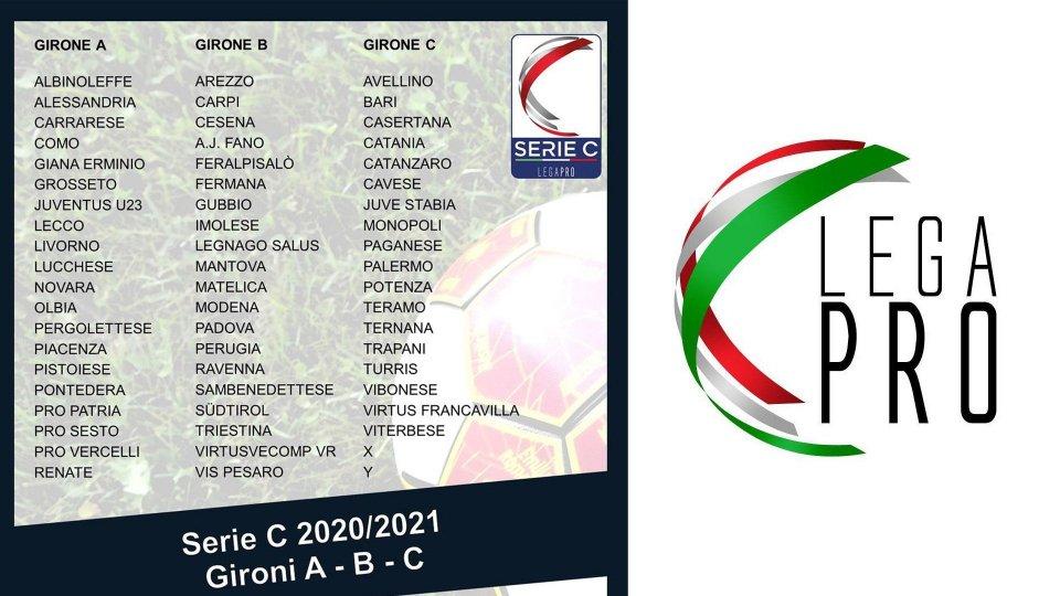 Serie C, ufficiali i gironi della stagione 2020/21