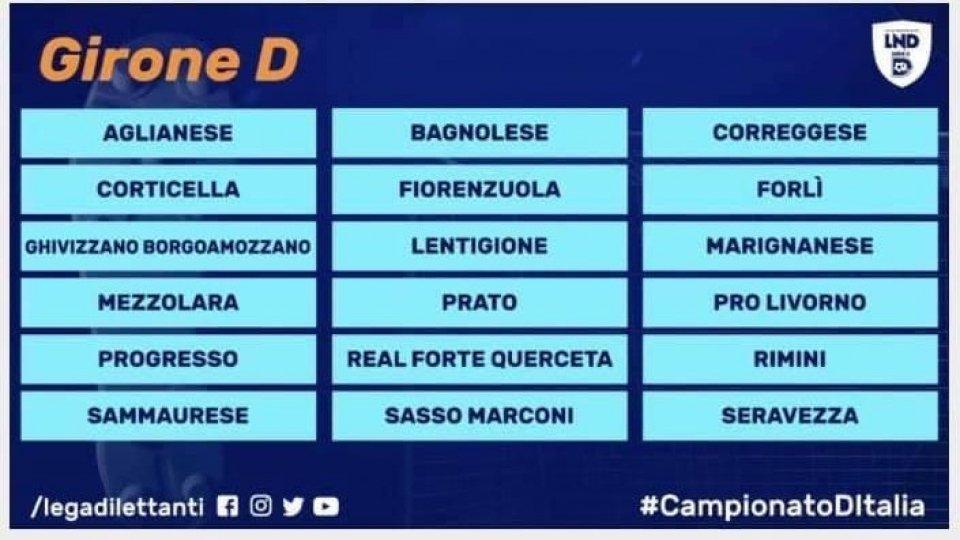 Serie D: ufficializzata la composizione del girone D