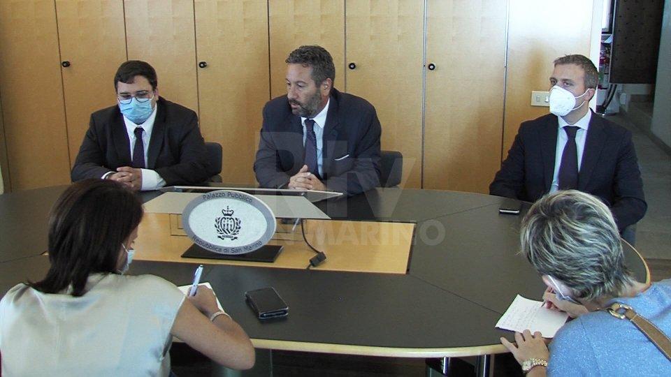 Giovanni Zonzini, il Segretario Marco Gatti e Stefano Giulianelli