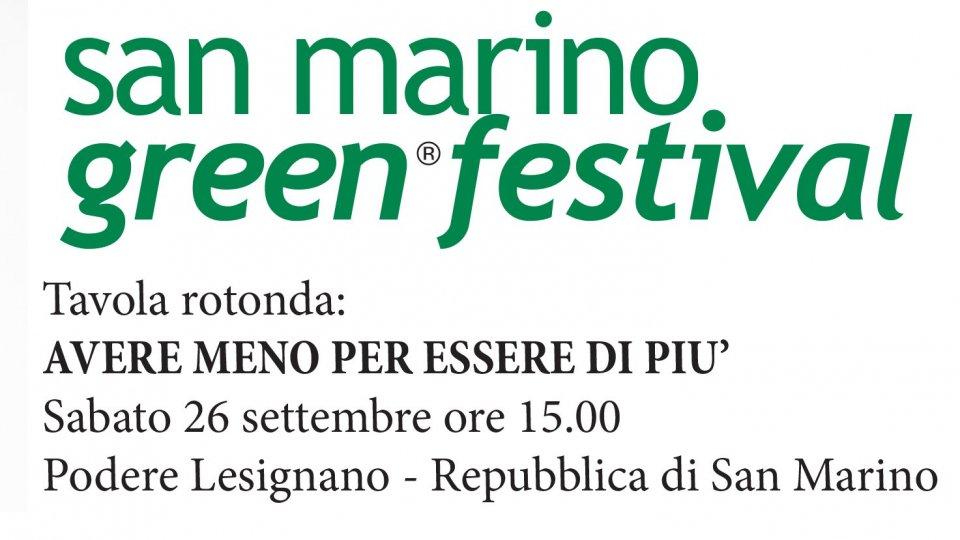 E se la soluzione fosse consumare meno? AL San Marino Green Festival un summit contro gli sprechi