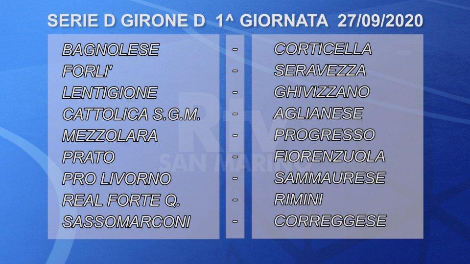 Il Rimini debutta a Forte dei Marmi, il Forlì riceve il Seravezza