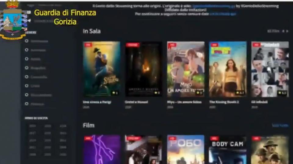 GdF: oscurati 58 siti di pirateria audiovisiva, bloccato 90% accessi italiani