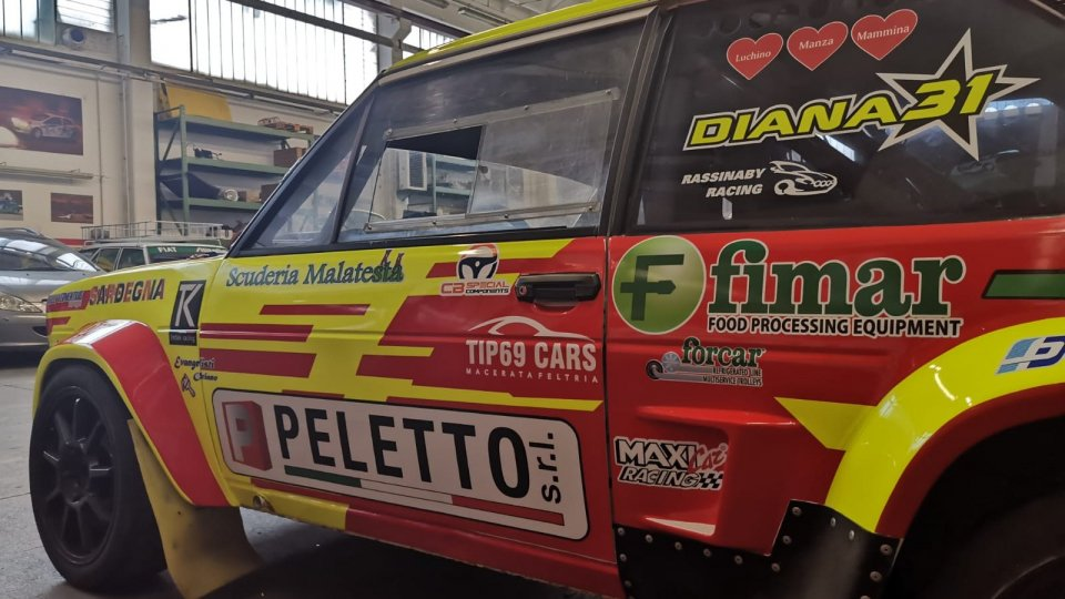 Paolo Diana al 18° Rallylegend con i colori della Peletto