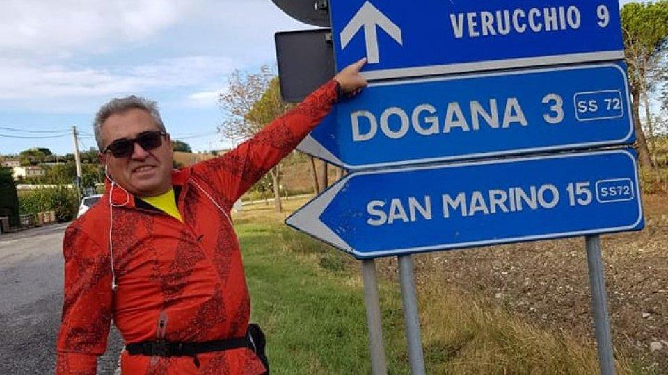 Sergio Lotti durante il percorso (foto facebook)