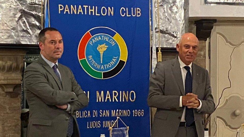 Il segretario Lonfernini alla conviviale del Panathlon