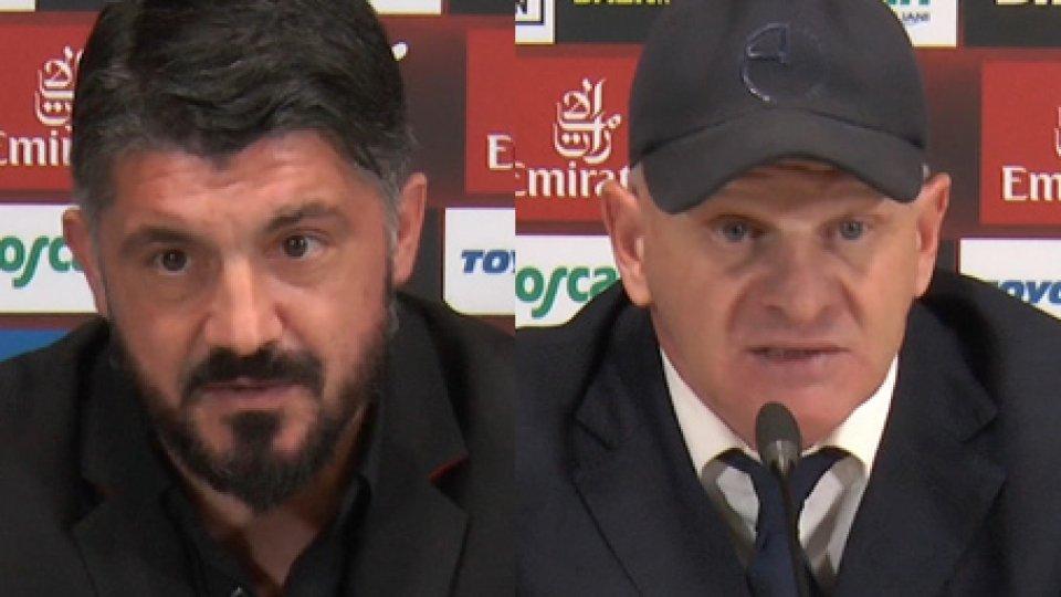 Gattuso e IachiniMilan-Empoli, parlano gli allenatori