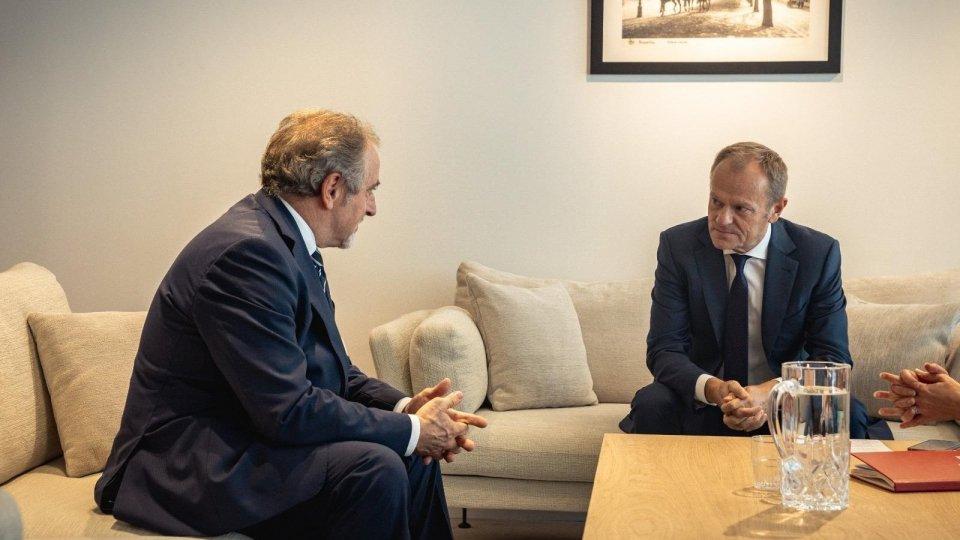 Gian Carlo Venturini e Donald Tusk