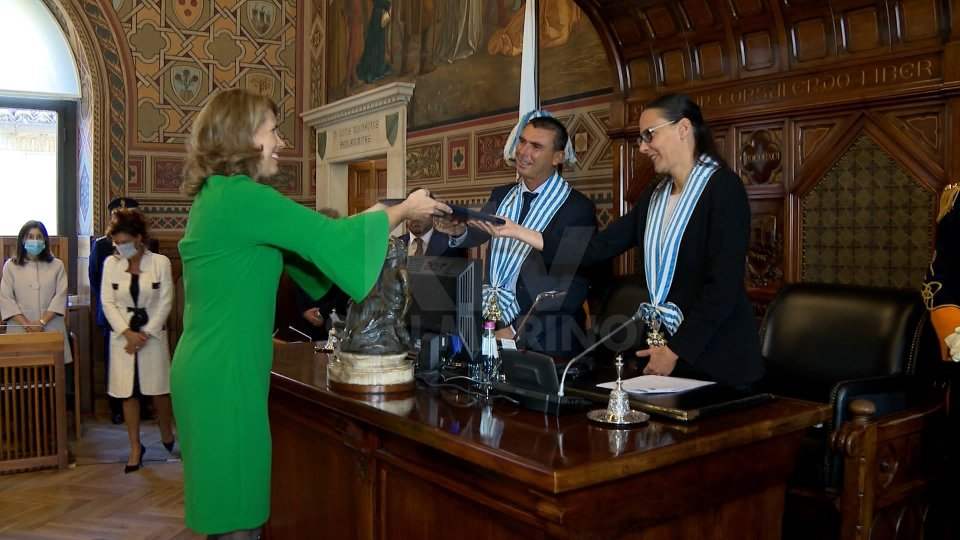 La cerimonia a Palazzo Pubblico
