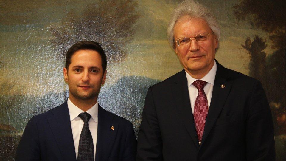 I rapporti economici San Marino-Russia nell'incontro fra il Segretario Righi e l'Ambasciatore Razov
