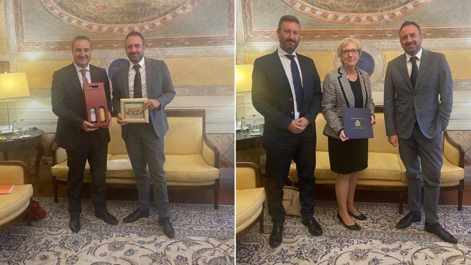 Gli incontri con gli ambasciatori di Georgia e Canada