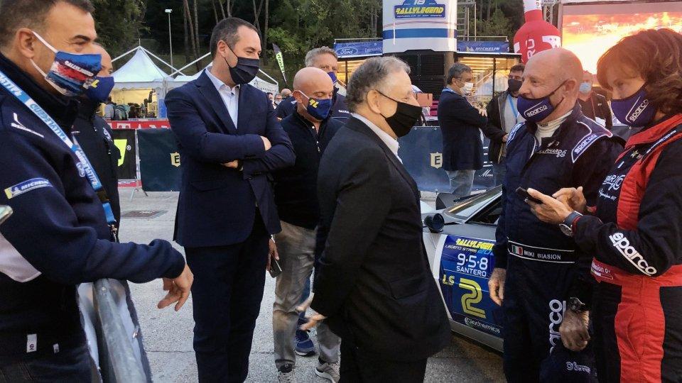 Segreteria Sport e Lavoro: Il Presidente della FIA Jean Todt in visita al RallyLegend