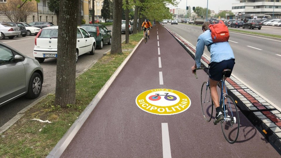 Comune Rimini: Proseguono i lavori della ciclabile di via Roma, che arriverà fino all'ospedale
