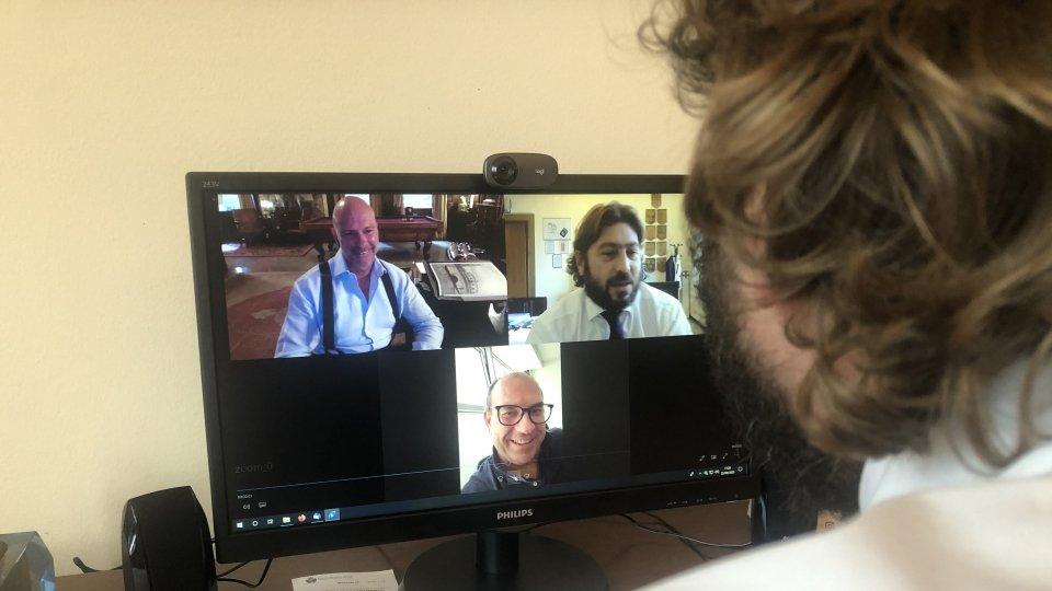 Il Segretario Federico Pedini Amati in videoconferenza con il Gruppo Cipriani