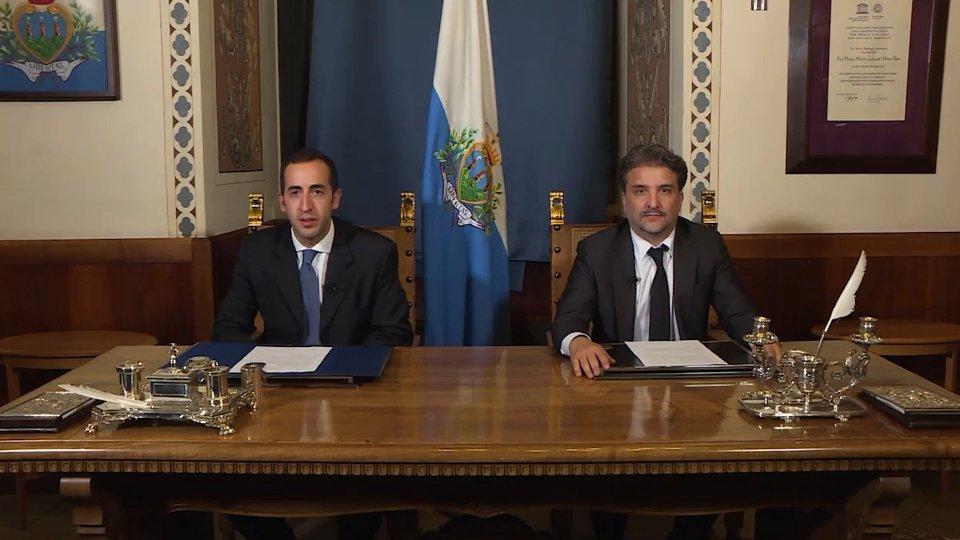 I Capitani Reggenti Alessandro Cardelli e Mirko Dolcini