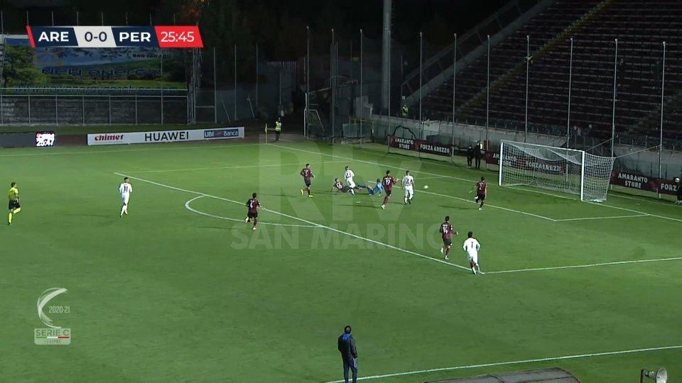 Arezzo-Perugia 0-1
