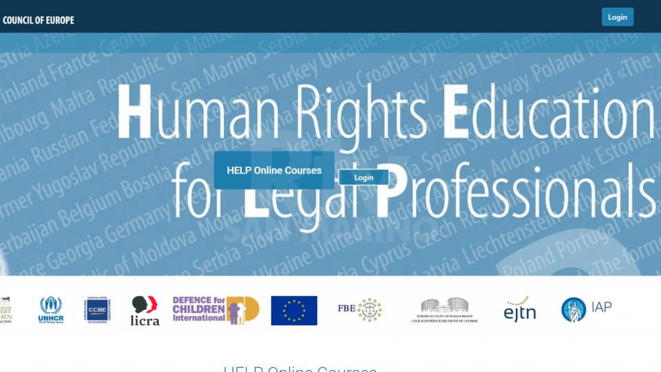 Corso HELP organizzato dal Consiglio d'Europa sui diritti in materia di protezione dei dati personali e privacy