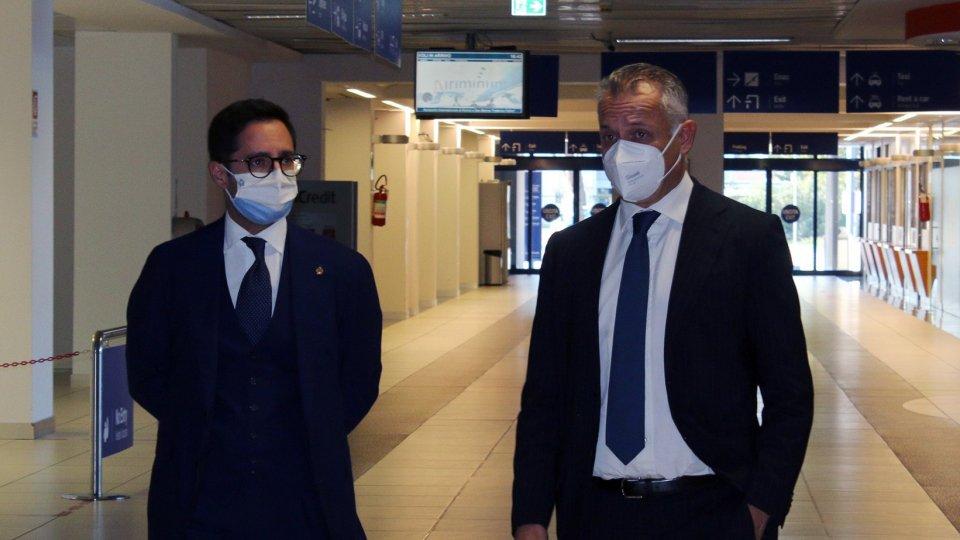 Il Segretario Fabio Righi in visita a Rimini a fiera ed aeroporto