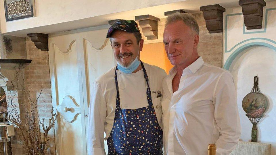 Sting con lo chef Luigi Sartini