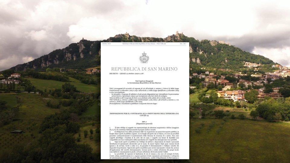 Decreto Legge 187: nuove misure per locali e eventi a San Marino. Aumentano le sanzioni minime