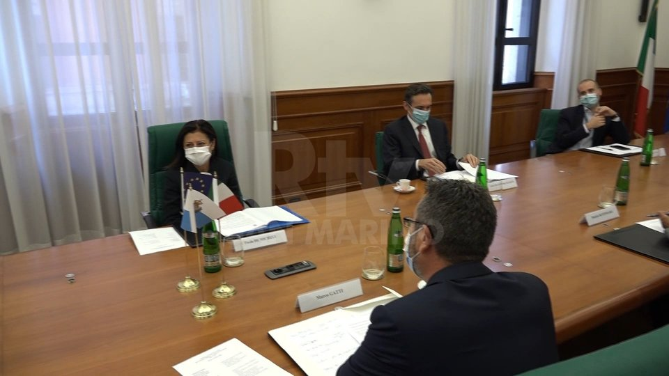 Paola De Micheli con Marco GattiSentiamo Marco Gatti