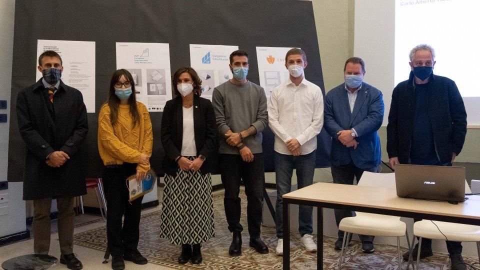 Dagli studenti del corso di laurea in Design dell'Università di San Marino il logo del 18esimo Congresso Internazionale Città Murate Lions