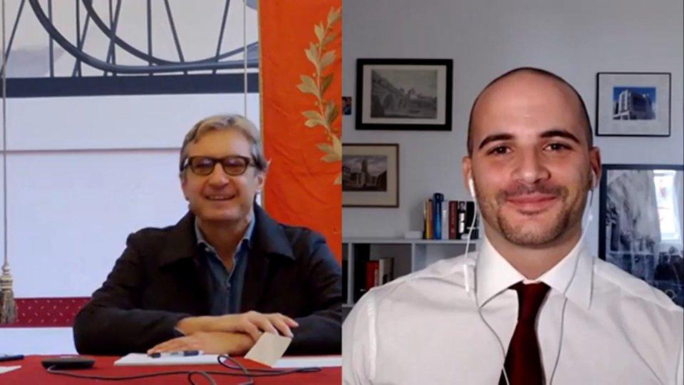 Il sindaco Andrea Gnassi e Giacomo Gorini