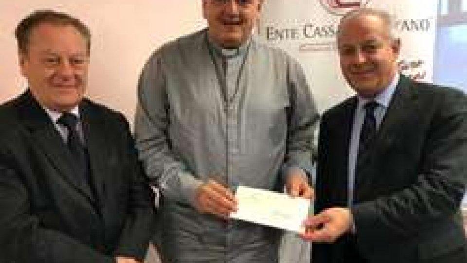 Consegnato il ricavato della raccolta fondi pro terremotati promossa da ente Cassa di Faetano e Banca di San Marino