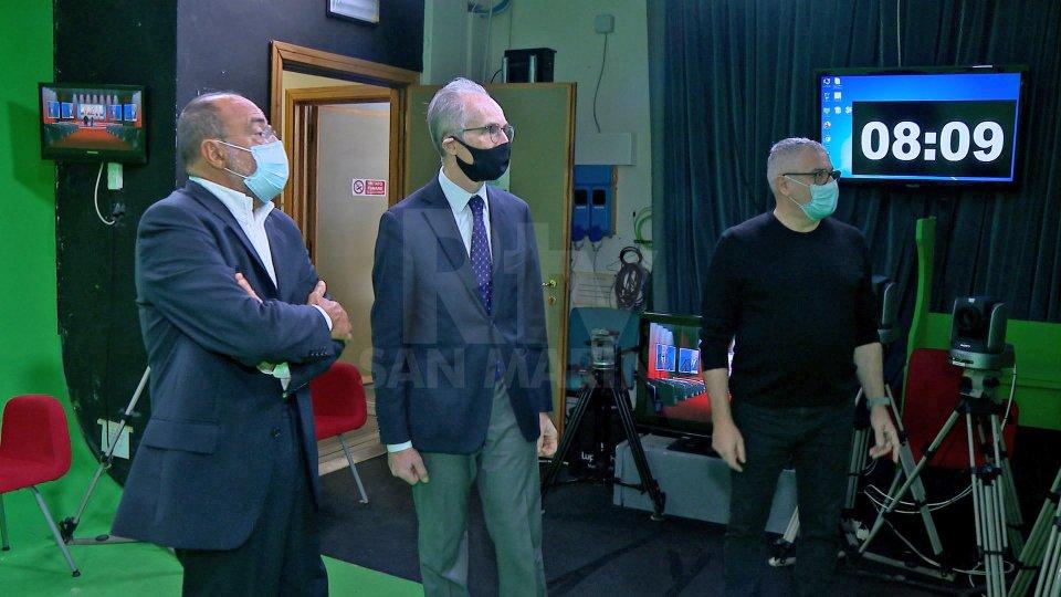 L'Ambasciatore d'Italia Mercuri in visita alla San Marino Rtv