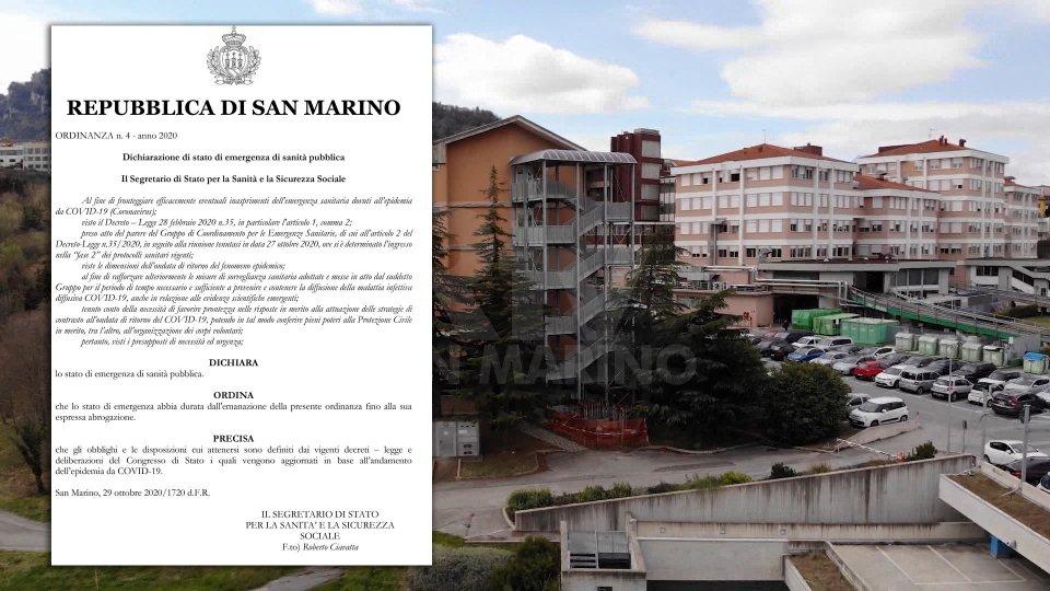 San Marino: dichiarato lo stato di emergenza sanitaria
