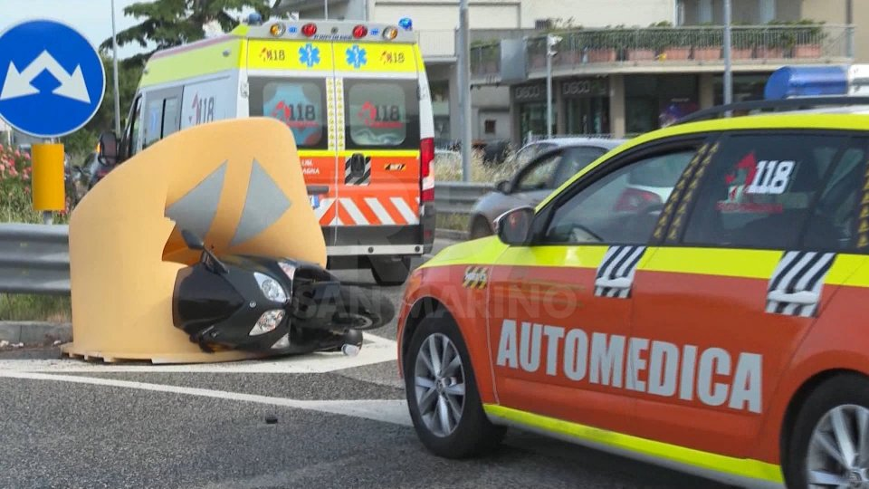 Un incidente a Rimini. Foto archivio