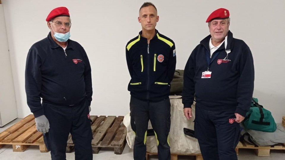 Protezione Civile: donazione tenda dal Corpo Italiano di Soccorso dell'Ordine di Malta (CISOM)