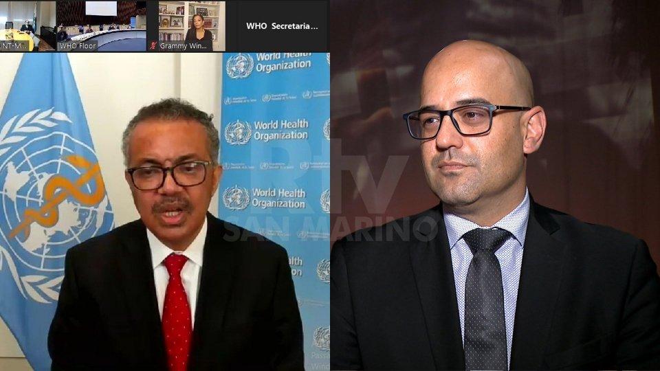 Tedros Adhanom Ghebreyesus, direttore generale OMS e Roberto Ciavatta