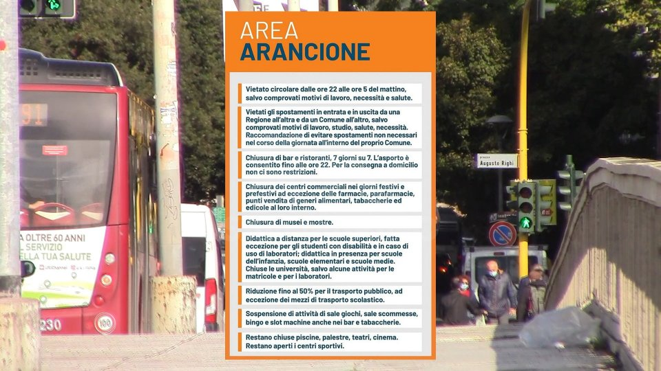 """Emilia-Romagna e Marche """"area arancione"""" dal 15 novembre"""