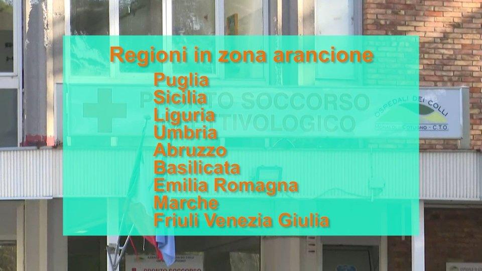"""Le regioni in """"zona arancione"""""""