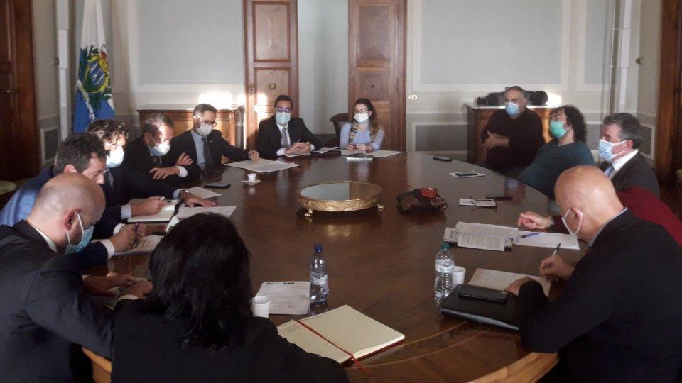 L'incontro del 6 novembre scorso tra CSU e Governo a Palazzo Begni
