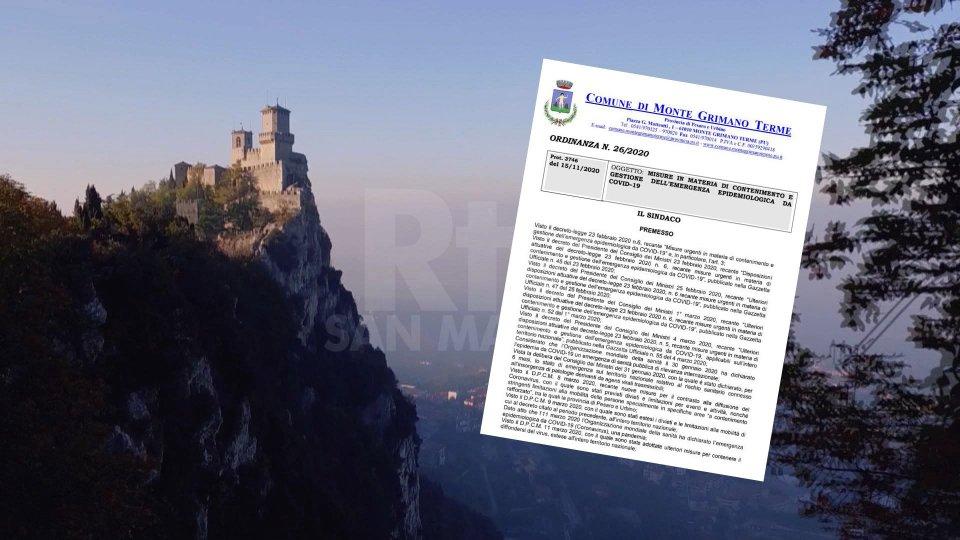Monte Grimano: per gli spostamenti San Marino è assimilata al territorio comunale