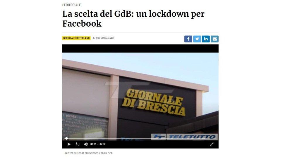 """""""Troppo odio nei commenti"""", il Giornale di Brescia non pubblicherà più articoli su Facebook"""