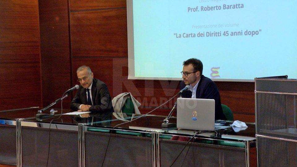 Il negoziato per l'accordo di associazione di San Marino all'Ue al centro della Lectio Magistralis del professor Baratta