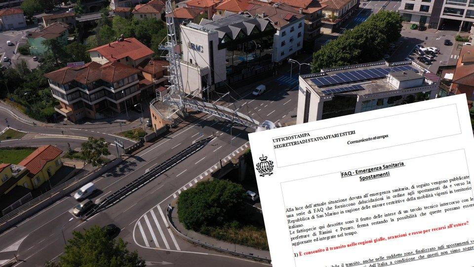 Covid San Marino: ecco le regole sugli spostamenti con l'Italia
