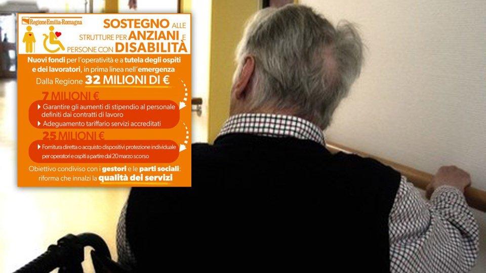 """L'Emilia-Romagna sostiene le strutture residenziali per anziani: """"Siamo al fianco dei più fragili"""""""