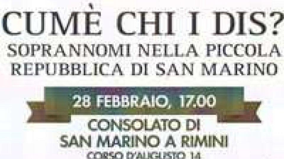 """""""Cumè chi i dis?"""": Romeo Morri presso il Consolato di San Marino a Rimini per presentare il suo volume"""