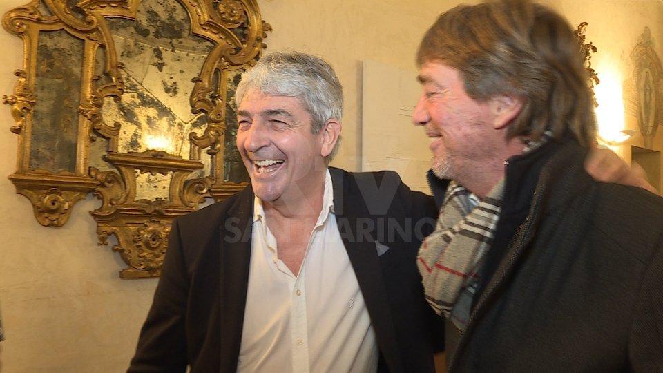 Paolo Rossi a San Marino con Massimo Bonini