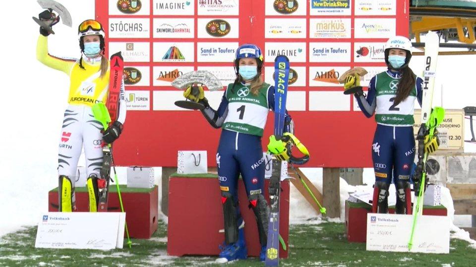 Lara Della Mea vince lo slalom di coppa Europa ad Ahrntal, Valle Aurina