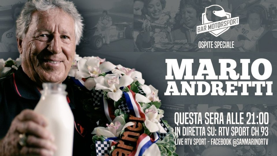 Questa sera su RTVSport con Thomas Biagi anche Mario Andretti