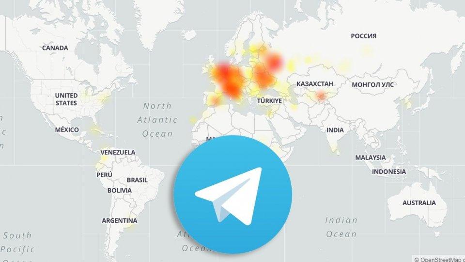 L'app Telegram e le segnalazioni di malfunzionamento (da downdetector.com)