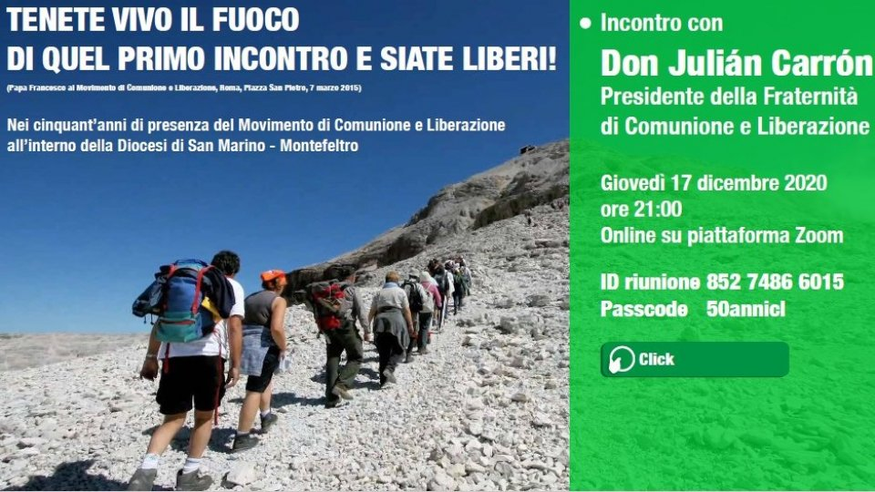 Comunione e Liberazione: 50 anni di presenza a San Marino-Montefeltro