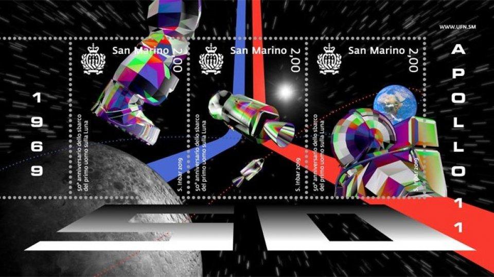 """UFN: medaglia d'oro alla serie di francobolli """"50° anniversario dello sbarco del primo uomo sulla Luna"""","""